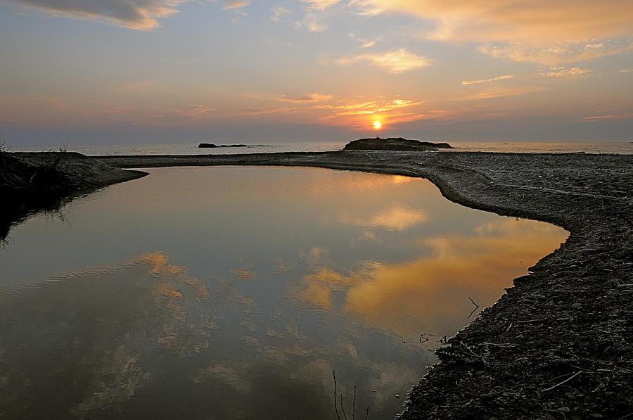 Lake Superior Photograph - November Sunrise-lake Superior by Sandra Updyke