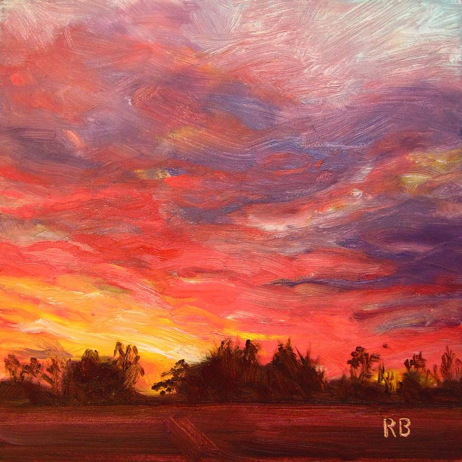 Sunset Painting - November Sunset  by Robie Benve