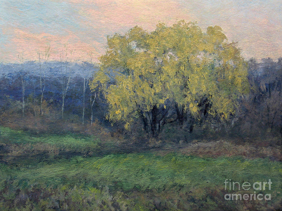 Willow Painting - November Willow by Gregory Arnett
