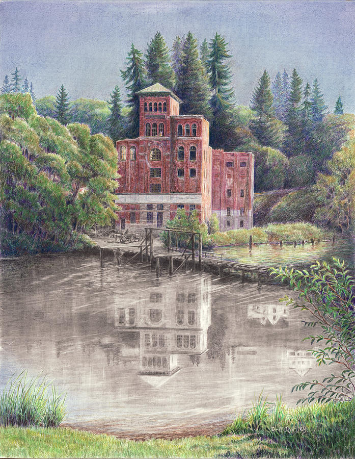 Now and Then - Old Olympia Brewery by Laurie McGinley