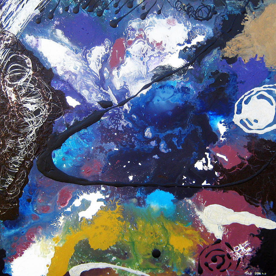 Abstract Painting - Now I Am Become Death... The Destroyer Of Worlds by Tylo Jacobs