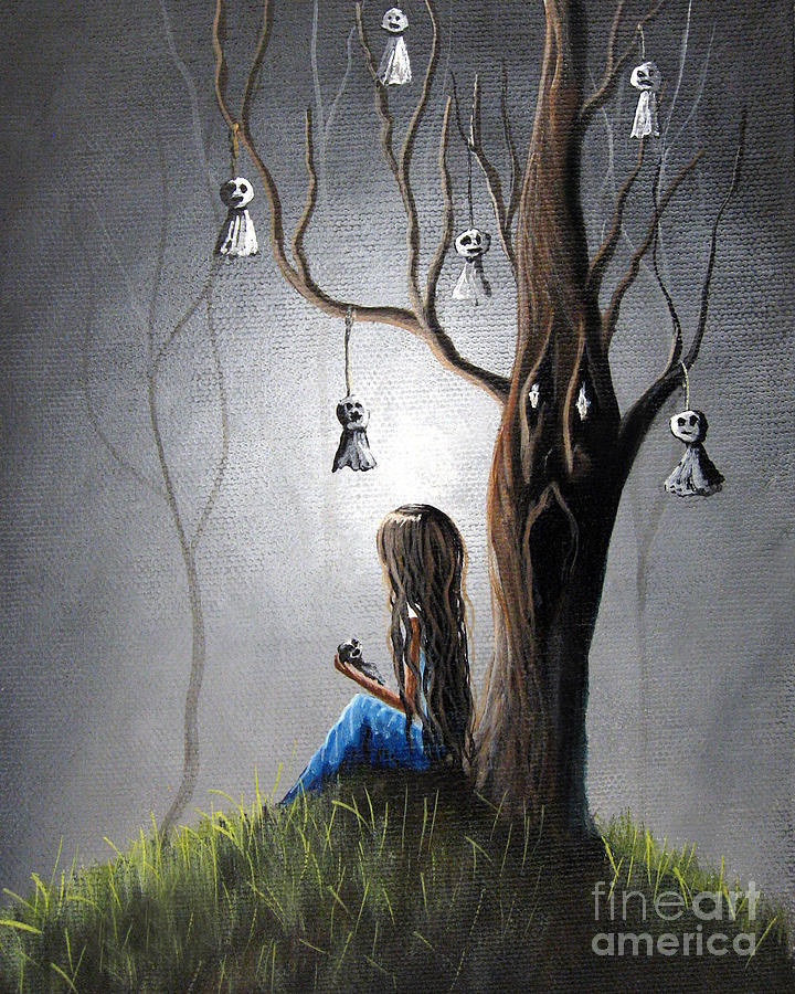 Lowbrow Painting - Now She Wont Be Alone II By Shawna Erback by Shawna Erback