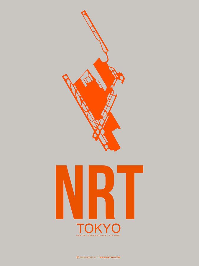 Tokyo Digital Art - NRT Tokyo Airport 1 by Naxart Studio