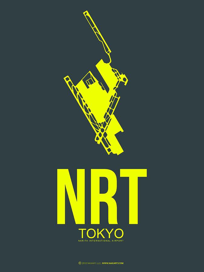 Tokyo Digital Art - NRT Tokyo Airport Poster 2 by Naxart Studio