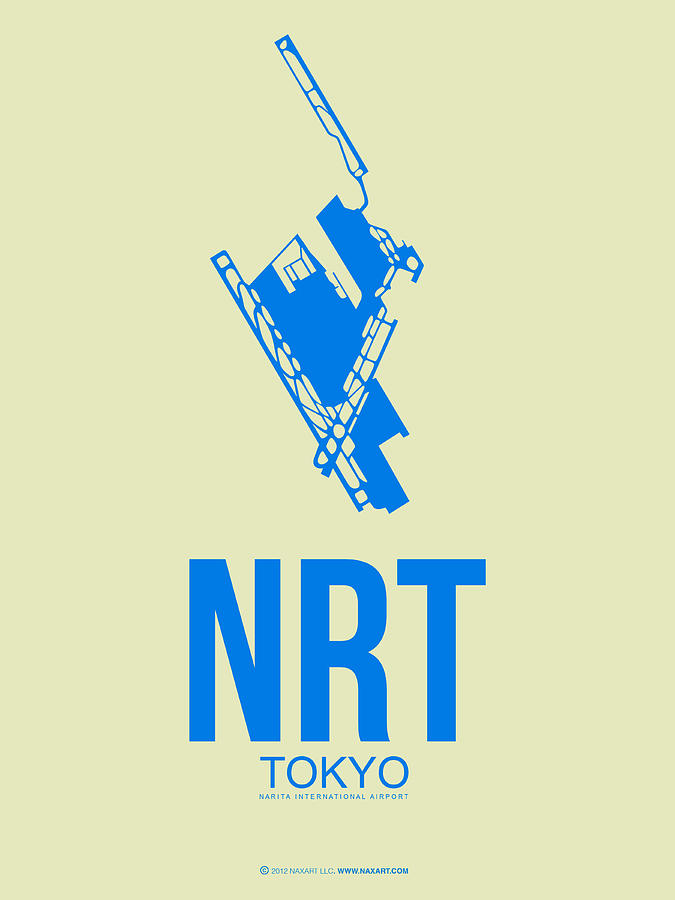 Tokyo Digital Art - NRT Tokyo Airport Poster 3 by Naxart Studio