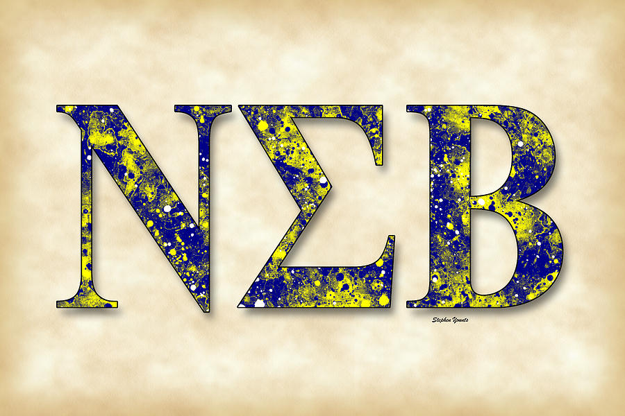 Fraternity Digital Art - Nu Sigma Beta - Parchment by Stephen Younts