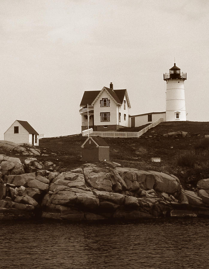 Lighthouses Photograph - Nubble Light by Skip Willits