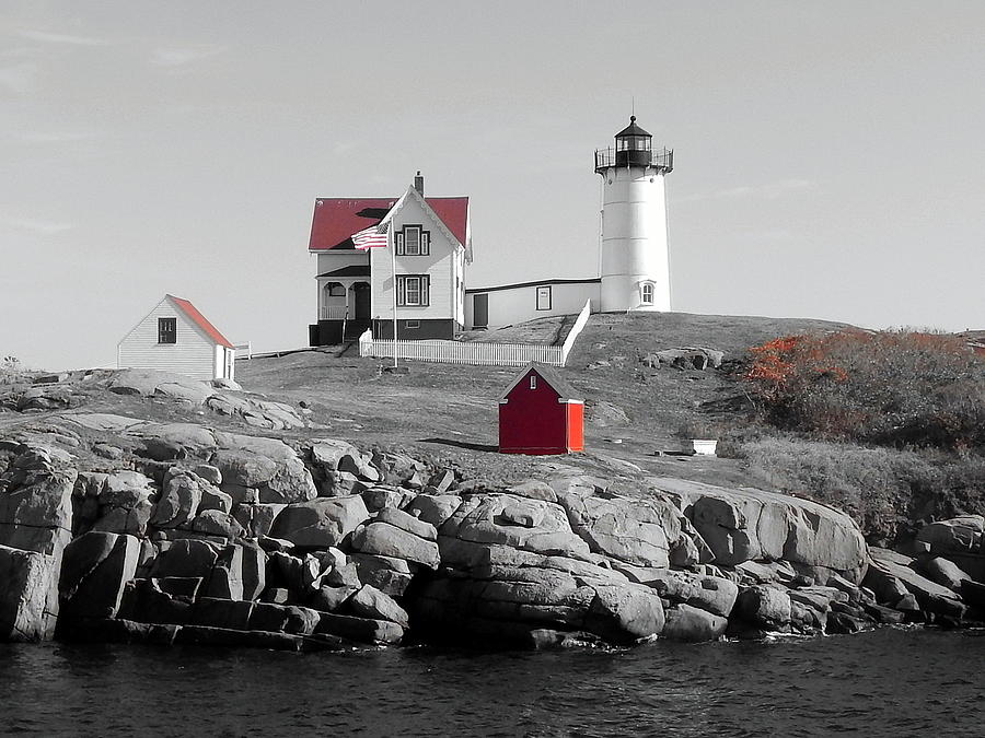 Lighthouse Photograph - Nubble Light by Timothy Caron