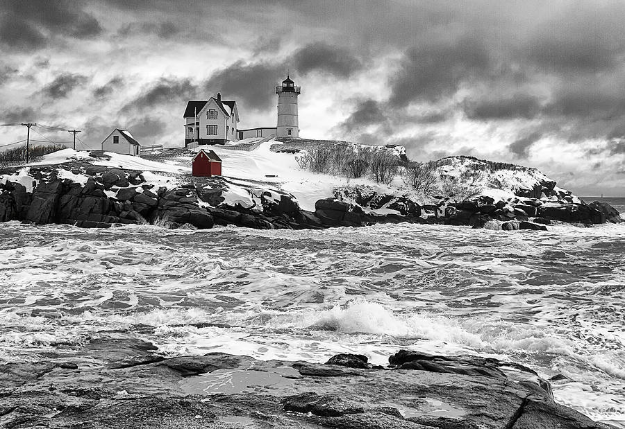 Nubble Lighthouse After The Storm Photograph By John Vose