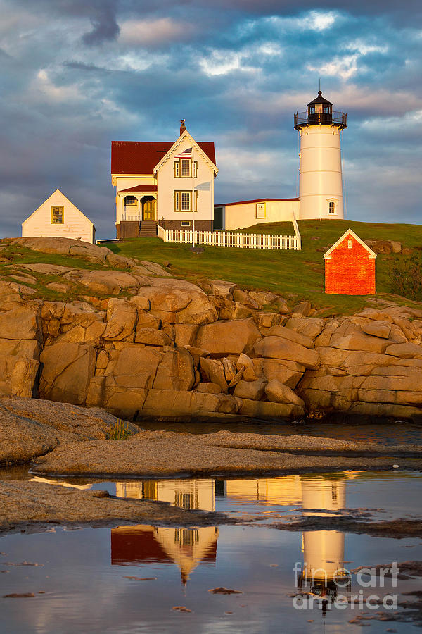 Atlantic Ocean Photograph - Nubble Lighthouse No 1 by Jerry Fornarotto