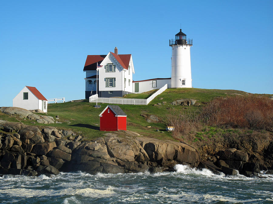 Nubble Lighthouse One Photograph By Barbara McDevitt