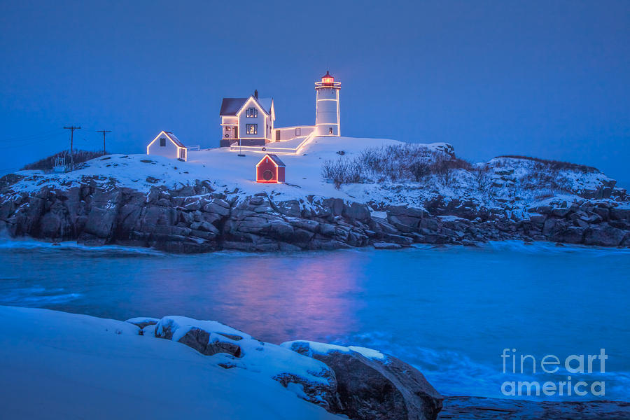 America Photograph - Nubble Lights by Susan Cole Kelly