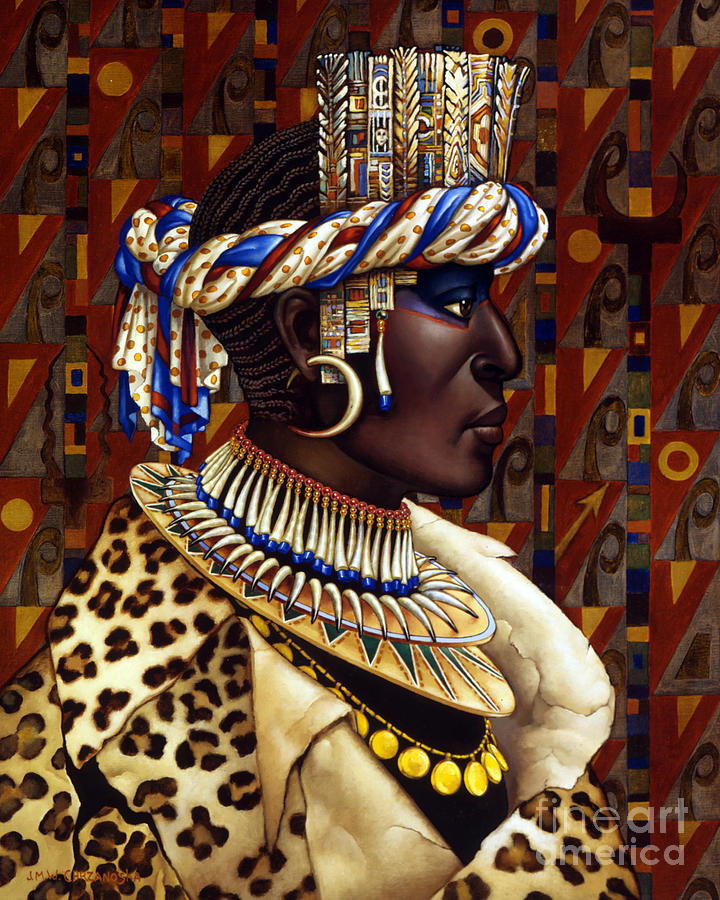 African Painting - Nubian Prince by Jane Whiting Chrzanoska