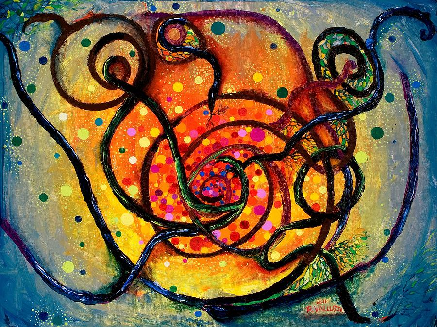 Bare Mass Painting - Nuclear Fusion by Regina Valluzzi