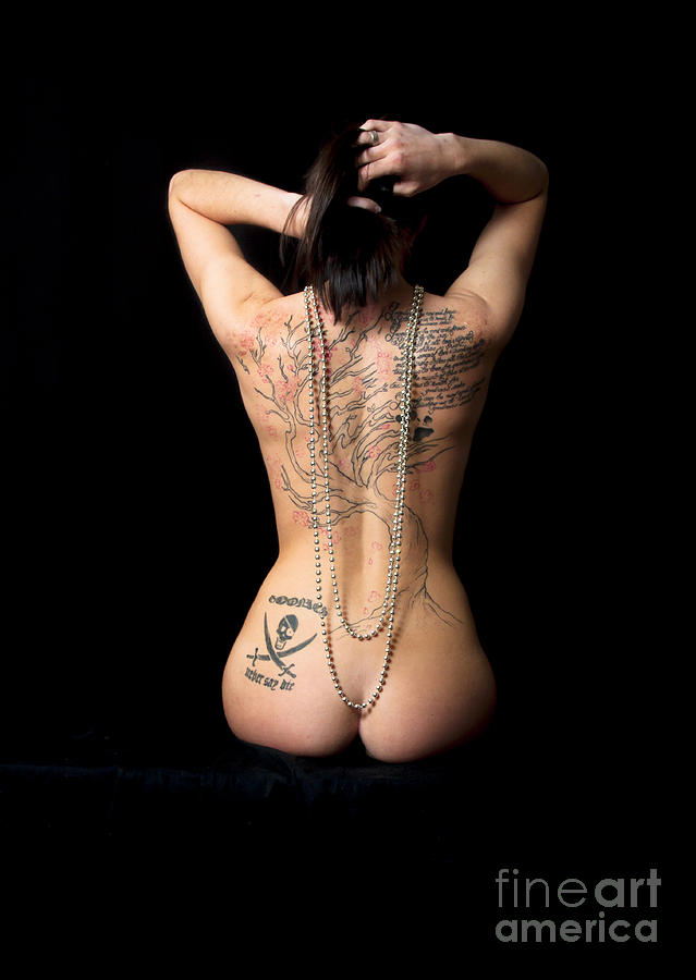 Nude Back Tattoo Photograph By Jeff Auger-2886