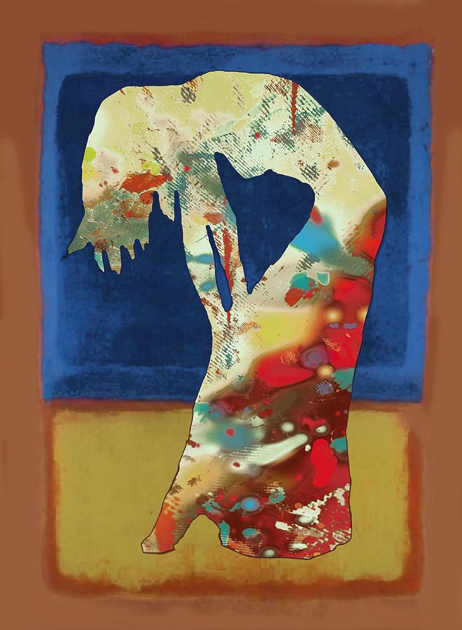 Nude Drawing - Nude Dancing Pop Stylised Art Poster by Kim Wang