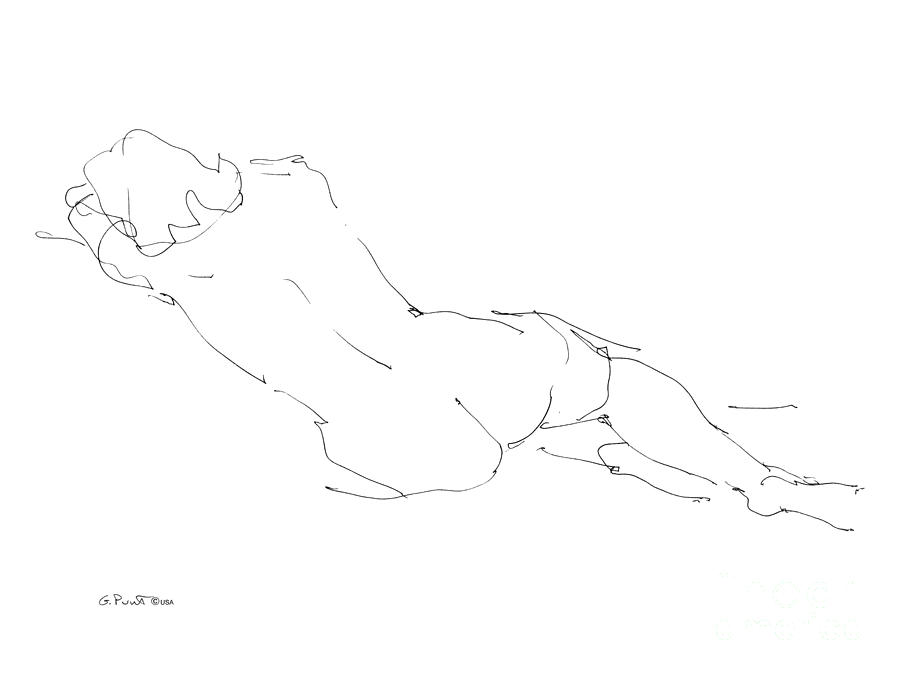 Females Drawing - Nude Female Drawings 9 by Gordon Punt