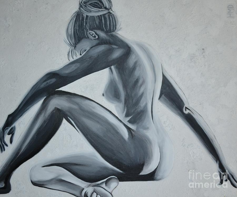 Nude Female - Snowstorm Painting by Holly Donohoe