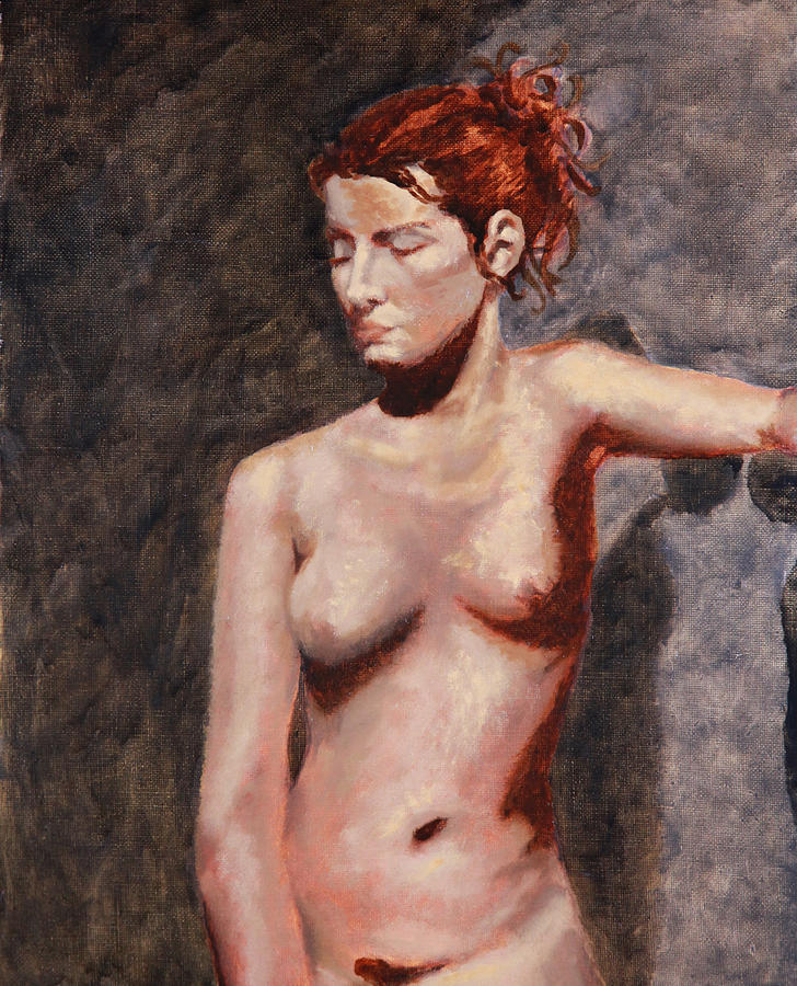 Nude French Woman Painting - Nude French Woman by Shelley Irish