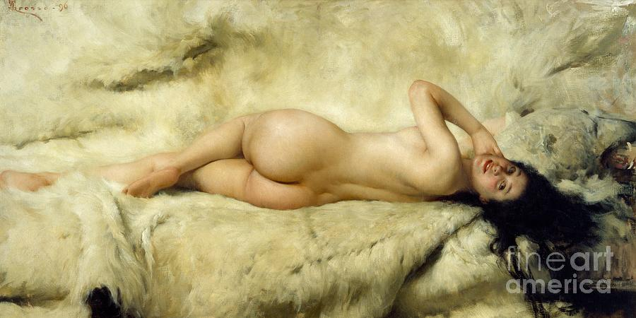 Painting Painting - Nude by Giacomo Grosso