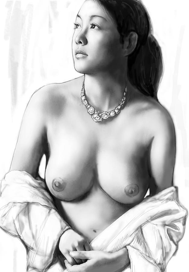 The art drawings of nude girls
