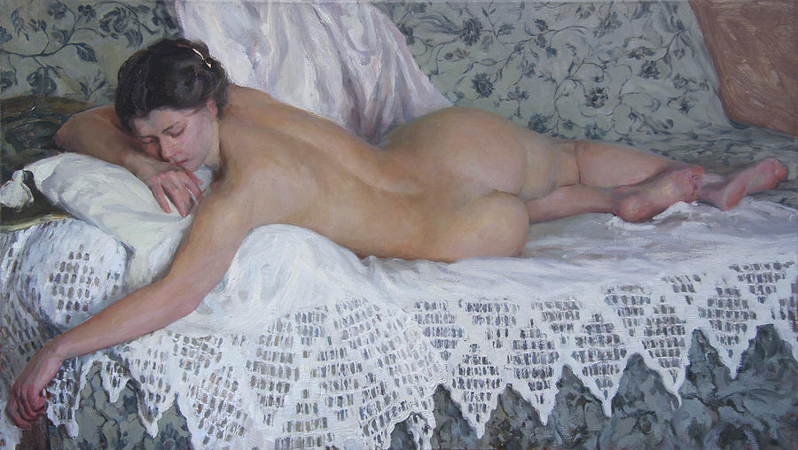 Nude Painting - Nude by Korobkin Anatoly