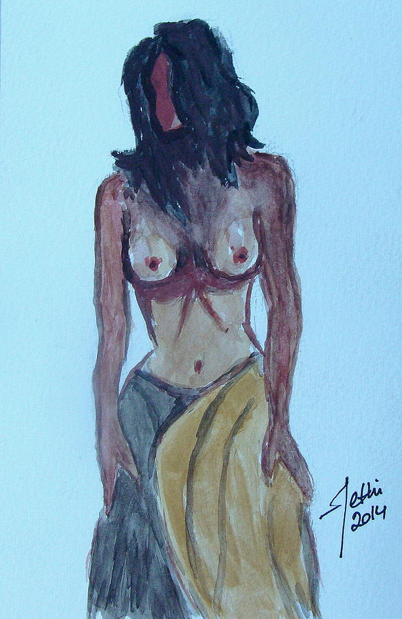 Painting Painting - Nude Lady by Fethi Canbaz