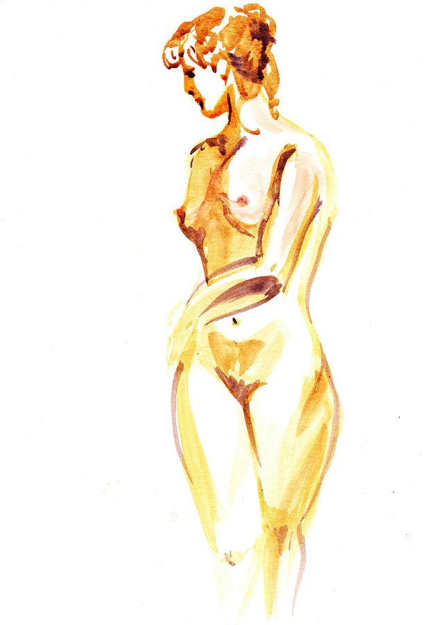 Nude Painting - Nude Model Gesture II by Irina Sztukowski