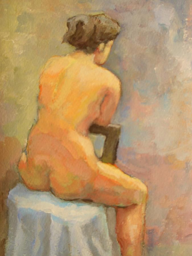 Girl Painting - Nude Painting  4 by Alfons Niex