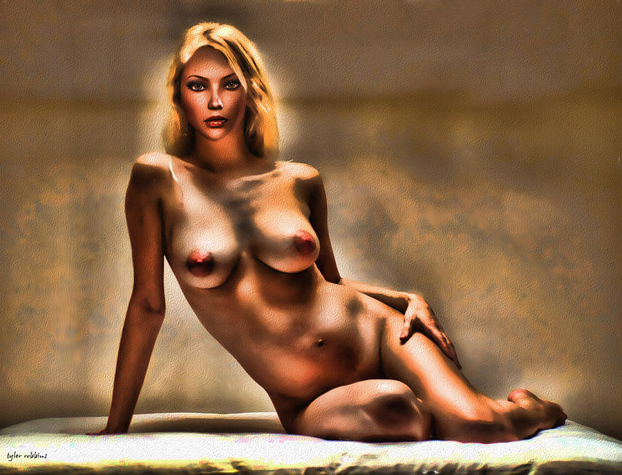 Nude Painting - Nude Reclining by Tyler Robbins