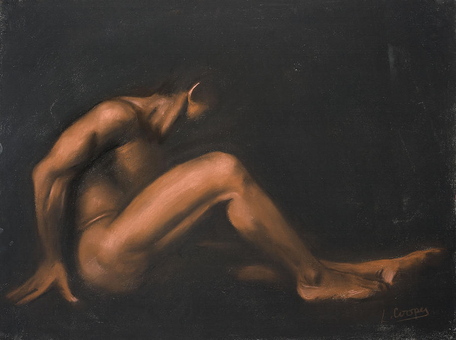 L Cooper Pastel - Nude Sitting by L Cooper