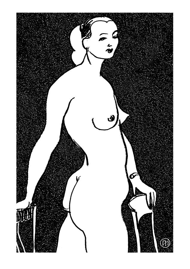 Nude Drawing - Nude Sketch 4 by Leonid Petrushin