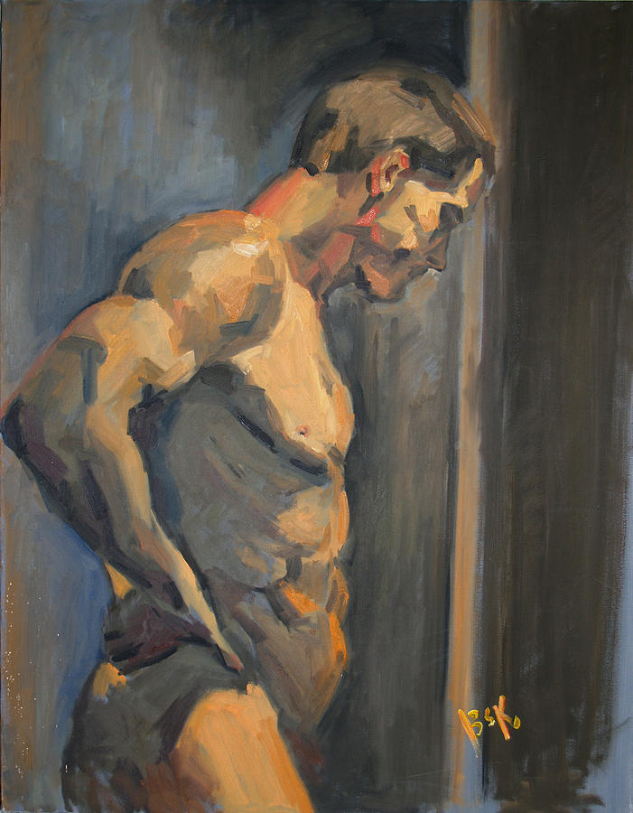 Oil Painting Painting - Nude Study  by Becky Kim