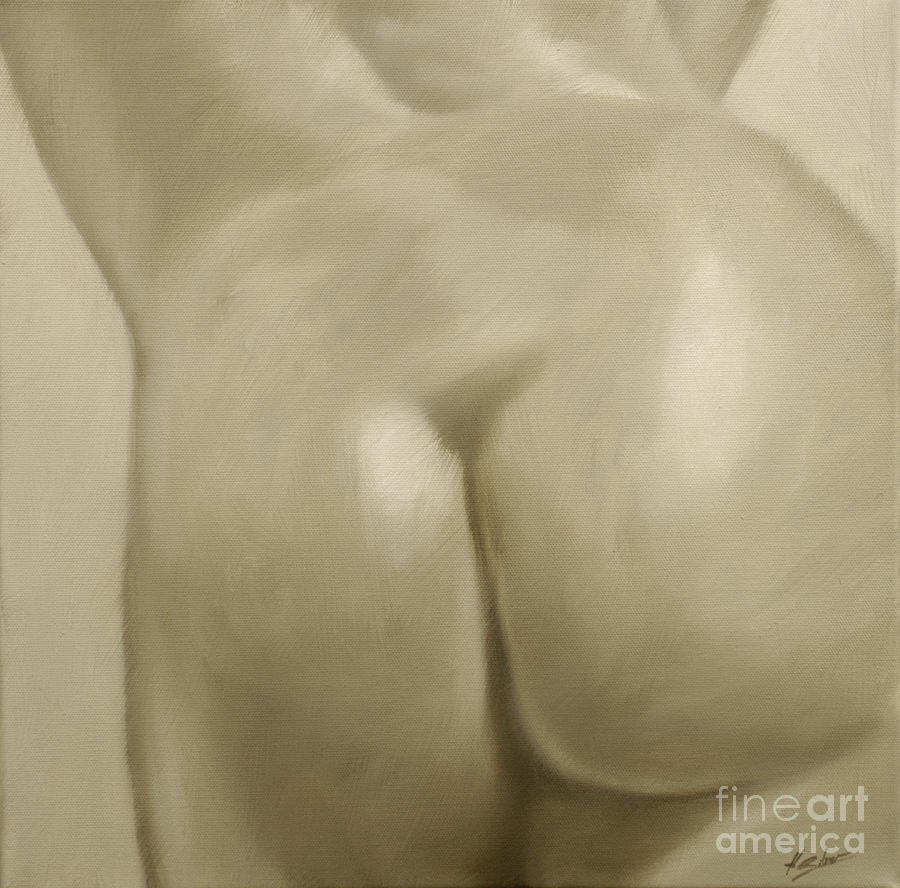 Nude Painting - Nude Study Vii by John Silver