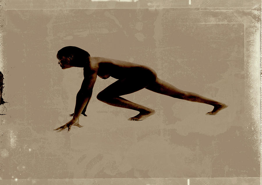 Nude Woman In Running Position Photograph by Win-initiative