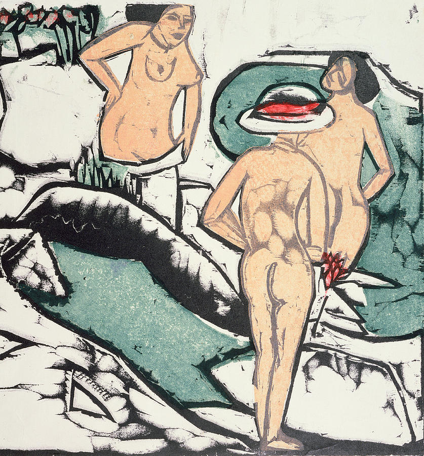 Ernst Ludwig Kirchner Painting - Nude Women by Ernst Ludwig Kirchner