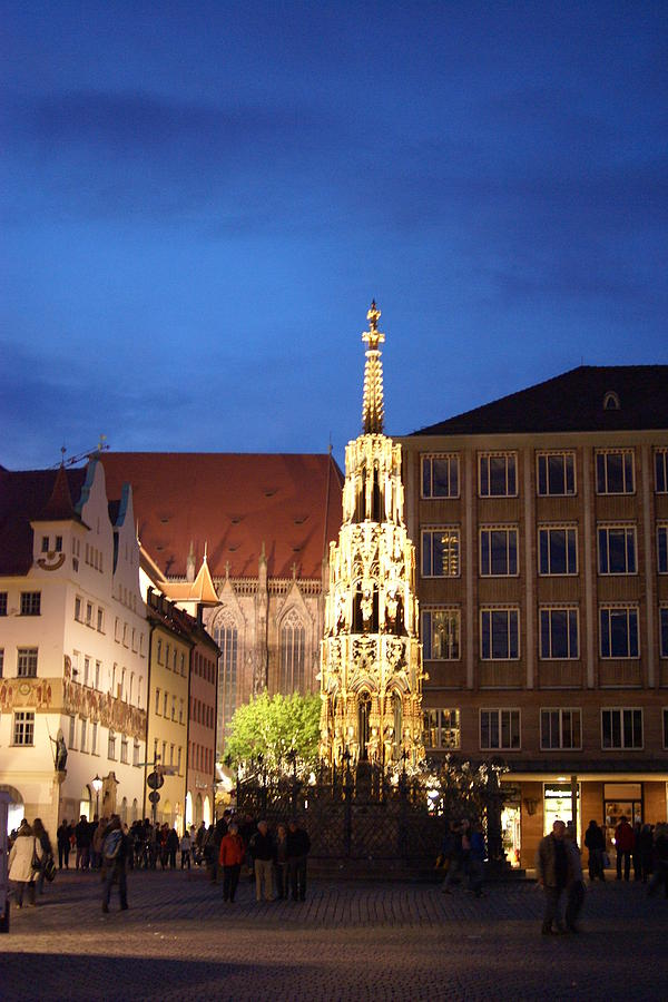 Famous Photograph - Nuernberg at night by Heidi Poulin
