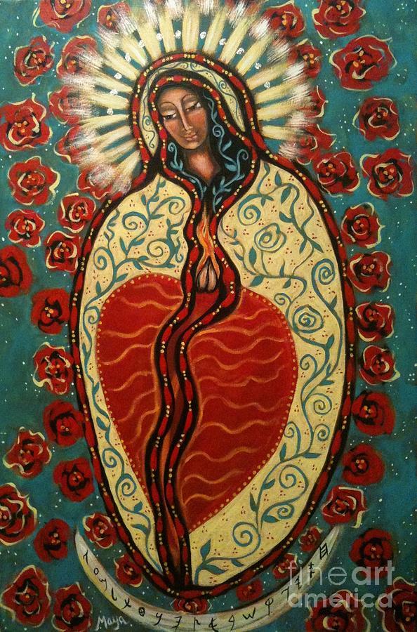Goddess Painting - Nuestra Senora De Guadalupe by Maya Telford