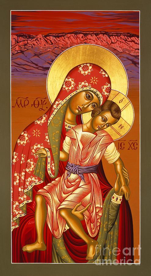 Mother Of God Painting - Nuestra Senora de las Sandias 008 by William Hart McNichols