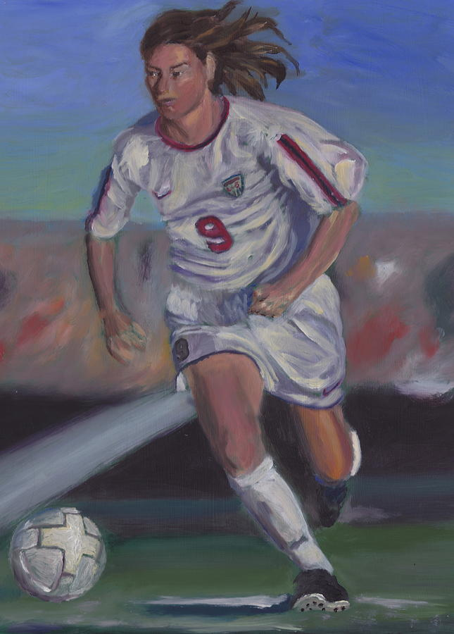 Soccer Painting - Number 9 by James Lopez