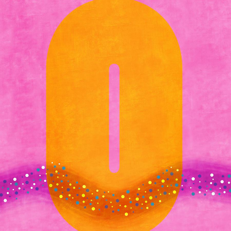 Pink Digital Art - Number Zero Flotation Device by Carol Leigh