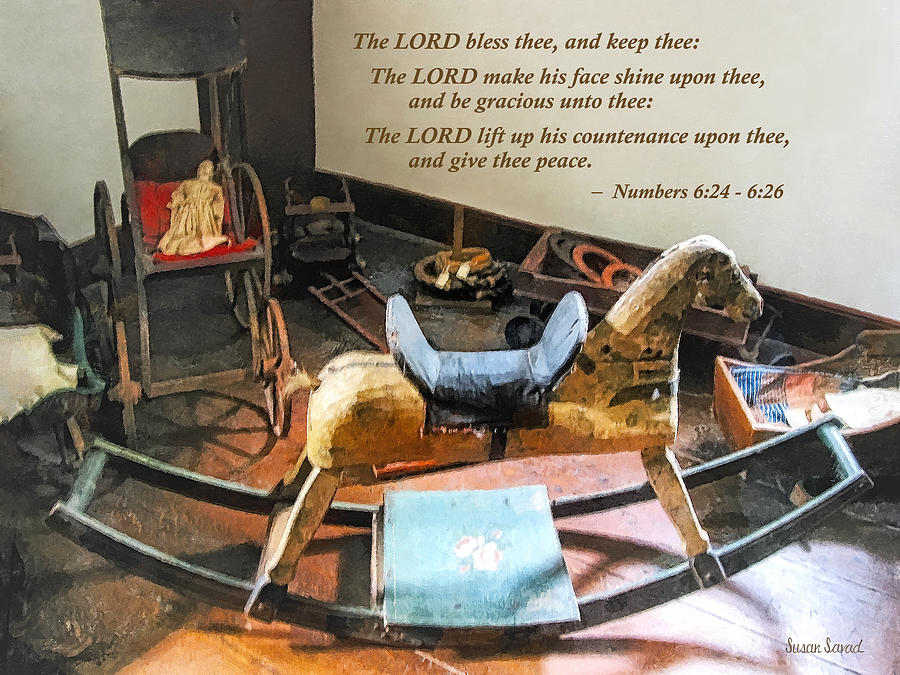 Religious Photograph - Numbers 6 24-26 The Lord Bless Thee And Keep Thee by Susan Savad
