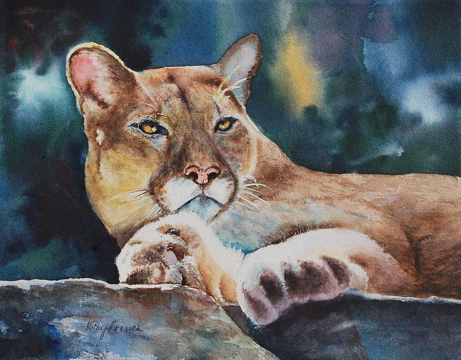 Big Cat Painting - Numbers24nine by Kathy Nesseth