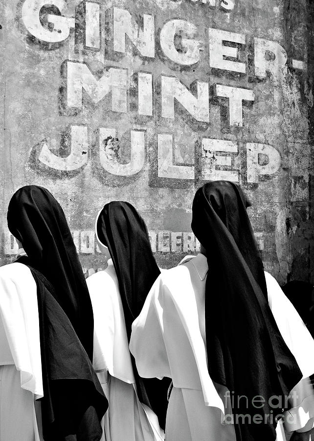 Black And White Photograph - Nun Of That by Kathleen K Parker