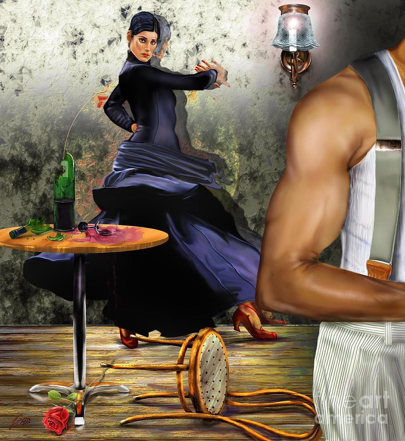 Dancer Painting - Nunca Hemos Bailado Una Cancion De Amor by Reggie Duffie