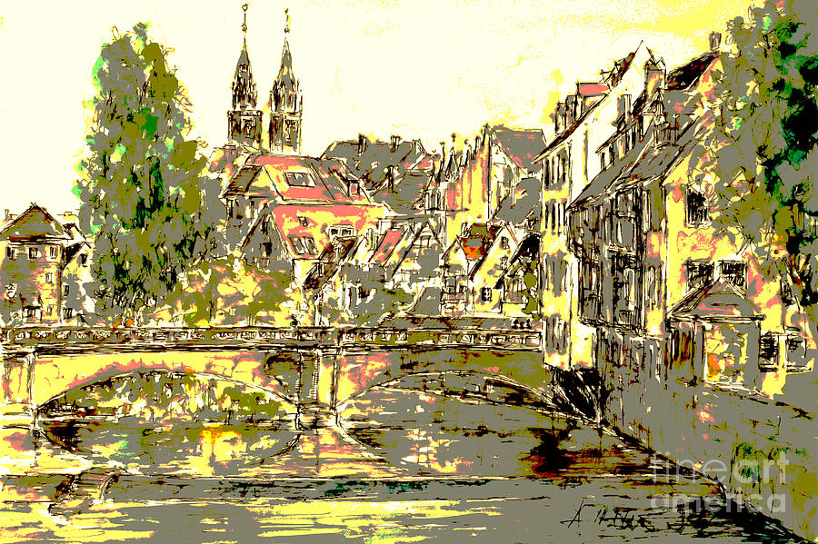 Nuremberg Painting - Nuremberg View To St.laurence Church by Almo M
