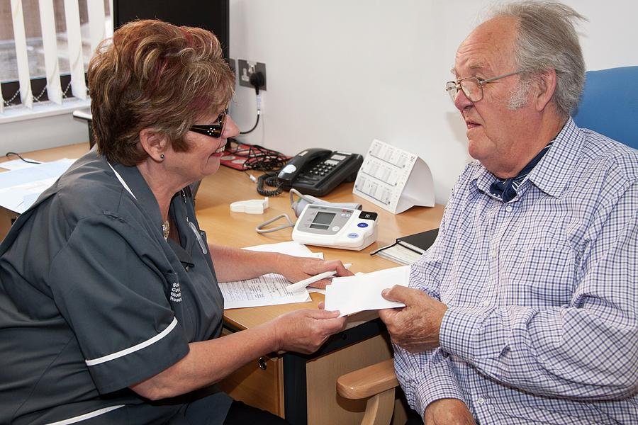 Human Photograph - Nurse Consulation by Life In View/science Photo Library