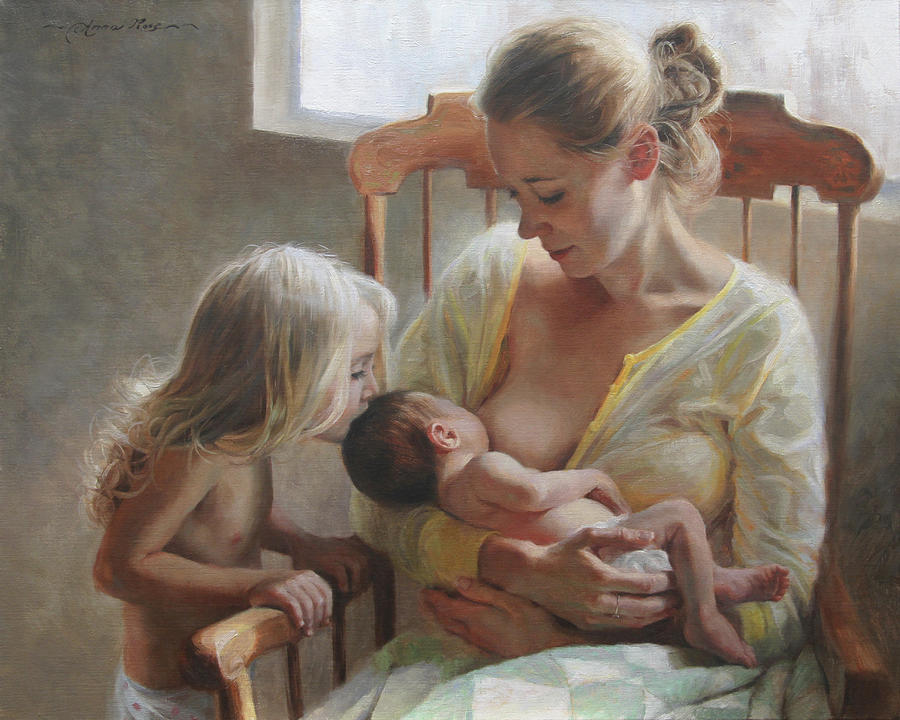Mother Painting - Nurturer by Anna Rose Bain