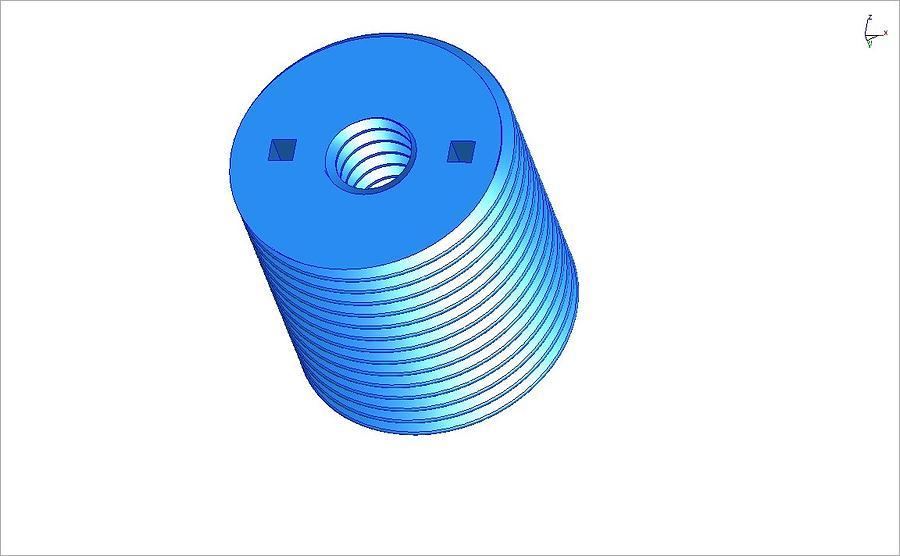 Nut Ceramic Art - Nut 3d -- Mechanical Brick by Pop Horea-Vasile