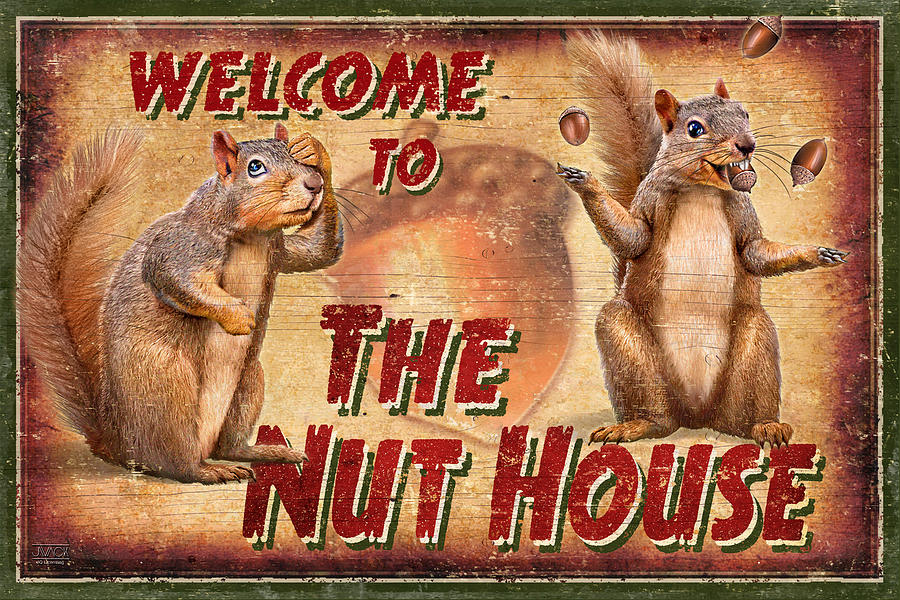 Jeff Wack Painting - Nut House 2 by JQ Licensing